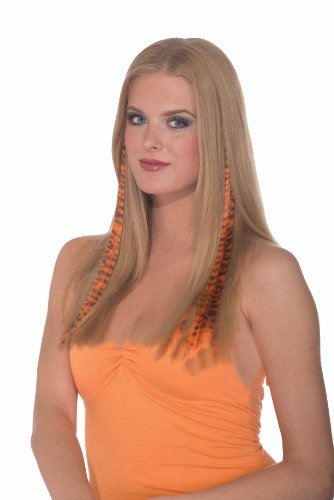 Set of 2 Orange and Black Tiger Striped Punk Glamour Costume Hair (Tiger Costume Hair)