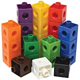Edx Education Linking Cubes - in Home Learning Toy for Early Math - Set of 100 - .8 inch Size - Connecting Blocks - Preschoolers Aged 3+ and Elementary Aged Kids