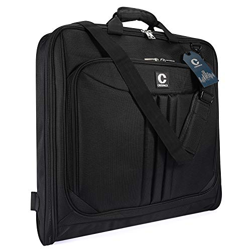 Crospack 2019 UPGRADE Suit Carry On Garment Bag for Travel Foldable Flight Bag for Business Trips With Shoulder Strap