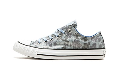 Converse Chuck Taylorr All Star Lurex Camo Ox Blue Chill / Ashley Blauw / Light Carbon Womens Classic Shoes Maat 6