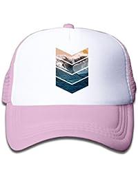7c0cf93d689 Boys Girls Sunrise Surfer Kids Trucker Hat Flatbrim It s for Toddler