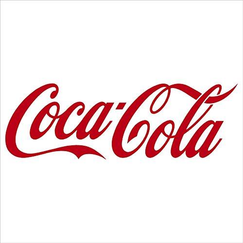 Red COCA-COLA Vinyl Sticker/Decal (Soft drink)