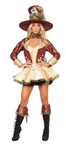 Deluxe Tea Party Hatter Costume (Deluxe Tea Party Hatter Adult Costume - Medium)
