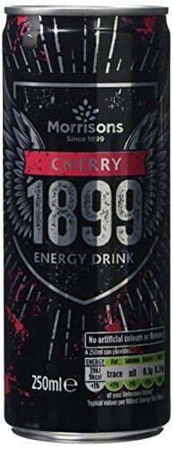 Morrisons 1899 Cherry Energy Drink, 250 ml, Pack of 24