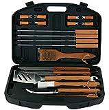 Mr. Bar-B-Q 94001X 18-Piece Stainless-Steel Barbecue Set with Storage Case (Black 36-Piece)