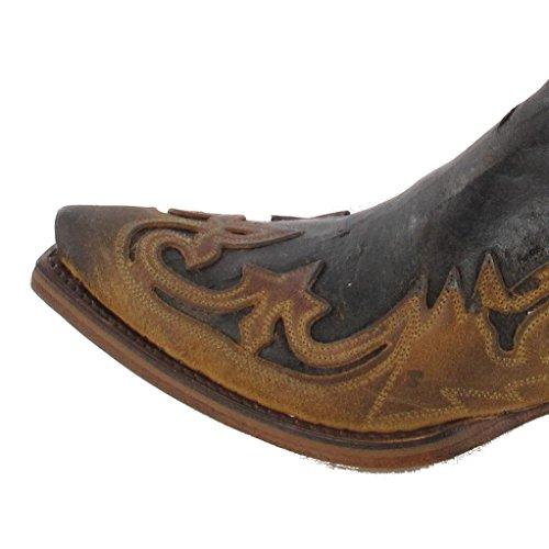 Botas Vaquero Cuero Sendra Hombre Marrón 4660 Boots Camello De xwFgS61