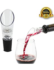 Wine Aerator Pourer (2-pack) - Premium Aerating Decanter Spout - Gift Box Included