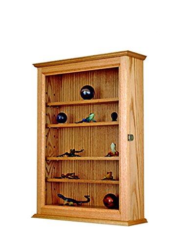 Wall Mounted Curio Display Case- Oak Hardwood