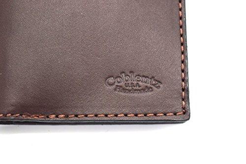 De Estilo Color Marrón De A Amish Doble Pliegue Hecho Oscuro Billetera Por El Roper Mano W929 Simplista Cuero RO6x6ZPqw