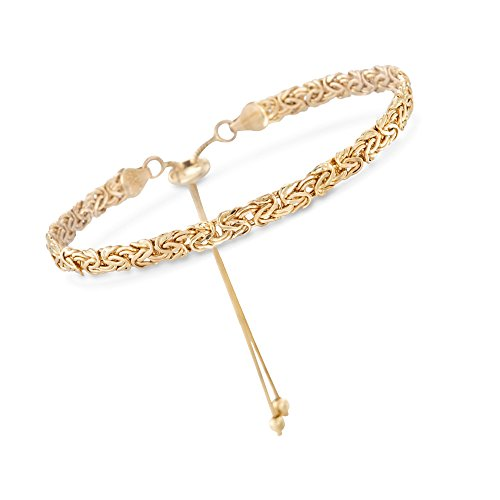 Ross-Simons 14kt Yellow Gold Byzantine Bolo Bracelet ()