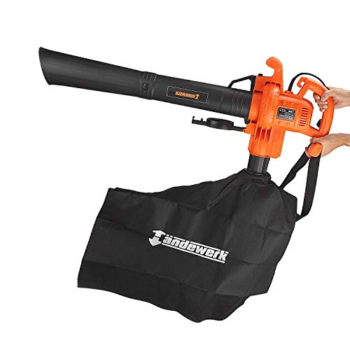 Suny Deals 3 in 1 Leaf Blower, Mulcher, Vacuum, 12Amp Motor, 210 Mph Air Speed, Electric Corded, Bag Included by Suny Deals