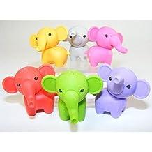 6Pcs Japanese Iwako Erasers-Elephants [Toy]
