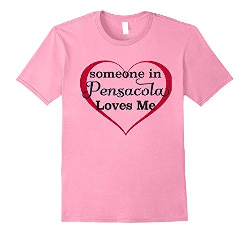 Mens Someone in Pensacola Loves Me - T Shirt | Kids Adult Tee FL Large - Pensacola Fl Gift Shops