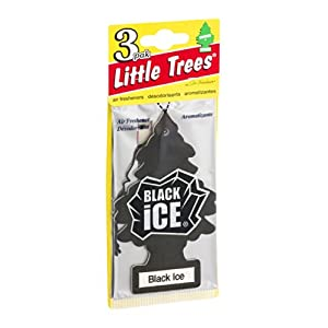 Little Trees Air Fresheners Black Ice 3 CT (Pack of 16)