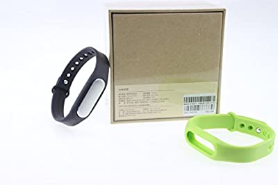 Original Xiaomi Mi Band Smart Bracelet for Xiaomi Mi4 M3 Miui Iphone 4s 5 5c 5s 6 6 Plus Samsung and Other Smart Phone with Android System 4.4 Smart Fitness Wearable Tracker Waterproof Wristband (black(with tracker)+light green(no tracker))