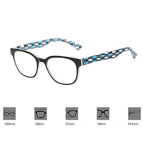 Gafas de Azul 0 0 3 5 Hombre Vintage 4 5 Huicai 0 0 2 1 Lectura Retro Unisex 5 2 1 Caja 3 Mujer Uq4cgwHxA