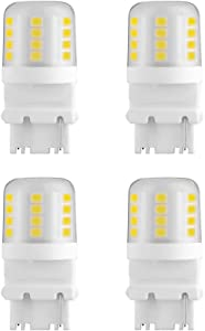 Makergroup S8 3156 Wedge Base LED Light Bulbs 12VAC/DC Low Voltage Water Resistant Design for Outdoor Landscape Lighting Pathway Deck Step Paver Lights,Driveway Lights 4W Daylight White 6000K 4-Pack