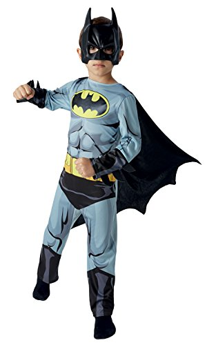 Rubies Big Boys' Batman Classic Comic Book - Costume 7-8 Years Grey,Black,Yellow