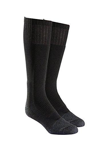 (Military Wick Dry Maximum Mid Calf Boot Sock (2 Pack - Medium, Black))