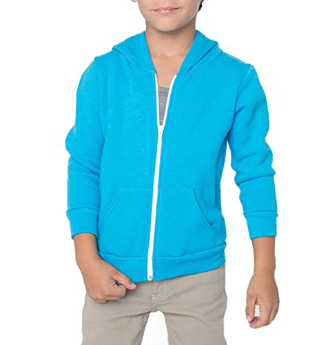 Z/&H Kids Girls /& Boys Unisex Plain Fleece Hoodie Zip Up Style Zipper Age 2-13 Years
