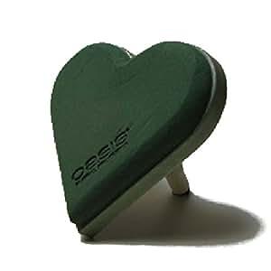 Oasis® ECObase Corazón Ramo de novia plana 19cm Lady Corazón 11–07454