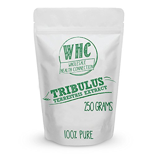 Tribulus Terrestris Powder 250g (417 Servings) | Pure Extract 45% Steroidal Saponins | Potent Testosterone Booster | Energy Boost | Burn Body Fat | Enhance Libido and Stamina | Increase Muscle