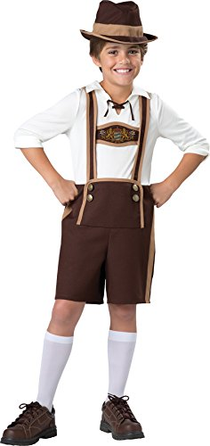 Guys Outfit (UHC Boy's Bavarian Guy Outfit Funny Theme Fancy Dress Child Halloween Costume, Child M (8))