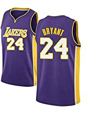 kuomai Los Angeles Lakers Kobe Bryant #24 Basketball Summer Short-Sleeved Crew Neck. Classic Series has Been withdrawn(Purple)