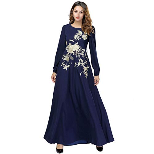 Witspace Women's National Robe Abaya Islamic Muslim Middle Eastern Long Dress ()