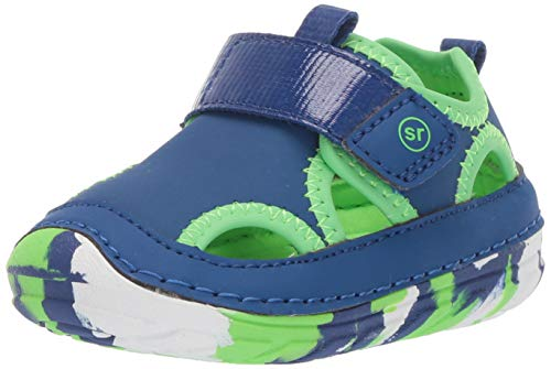 Stride Rite Soft Motion Splash Boy's/Girl's Water Play Sandal, Blue, 4.5 W US Big Kid