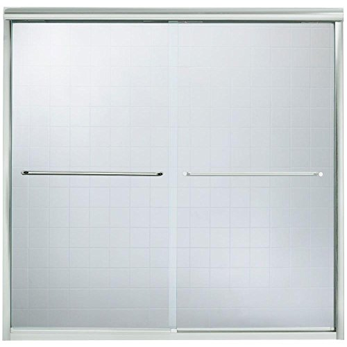 Sterling Plumbing 5405-59S-G05 58-1/16-Inch H x 54-5/8 - 59-5/8-Inch W Bath Door Bypass with Clear Glass, Silver