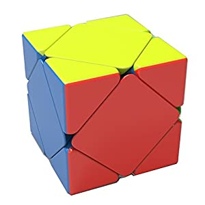 HJXD Magic Cube Set of 4 Pack Include Square 1+Skewb+Pyraminx+Maple Leaf Puzzle Cube