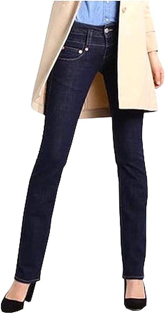 Herrlicher Damen Pitch Denim Straight Jeans Blau ( Raw Blue 028)