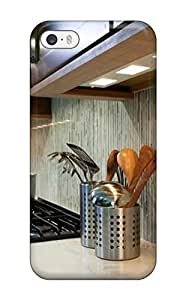 Case For Iphone 6 4.7 Inch Cover Defender (striped Backsplash In Modern Kitchen)