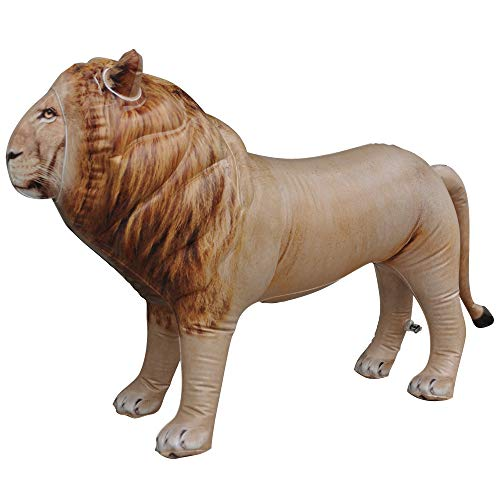 (Jet Creations Inflatable Male Lion with Mane Stuffed Animal, Standing - Ideal for Safari or Wildlife Theme Parties, Favors, and Decorations, Size 36 inch Long, an-Lion)