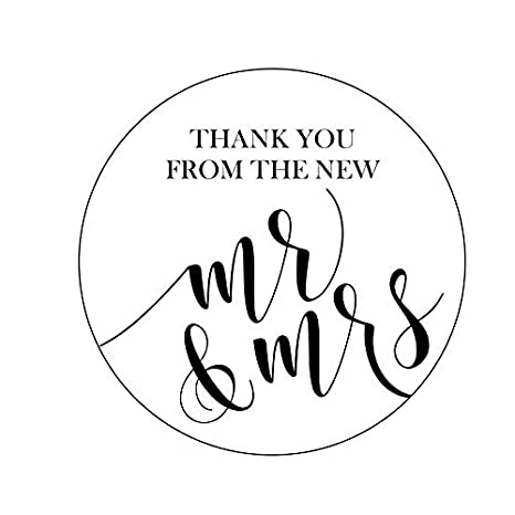 Amazon Thank You From The New Mr And Mrs Stickers Wedding