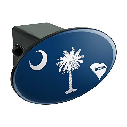 South Carolina SC Home State Flag Officially Licensed Oval Tow Hitch Cover Trailer Plug Insert 2
