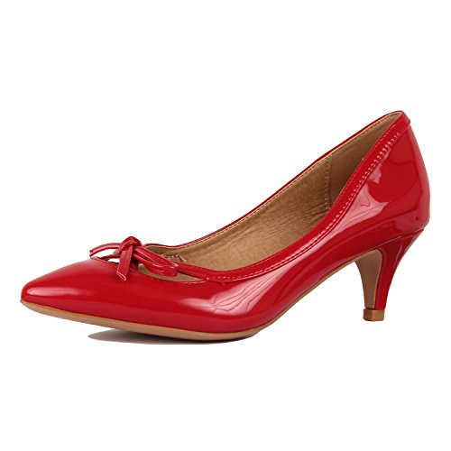 Guilty Shoes - Aubree 17-Red-Patent, 5.5 ()
