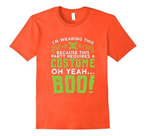 Last Minute Halloween Costumes Ideas Men (Mens Last Minute Halloween Party Costume Idea Tshirt For Parties Small Orange)