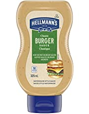 Hellmann's Burger Sauce for Favourite Homemade Burger Creations Classic Gluten Free and Certified Kosher 325 Ml, 0.091 Kilogram