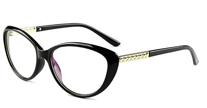 487db9bec6e COMPUTER Optical Blue Light Blocking Anti-fatigue Cat Eye Frame Clear  Glasses (Black