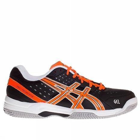 Zapatillas de Padel Asics Gel-Dedicate 3 Clay negra/naranja-46: Amazon.es: Deportes y aire libre