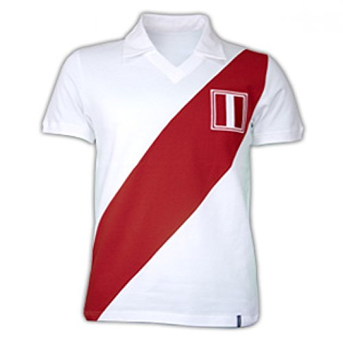 1970 Jersey Retro (Copa Classics Peru 1970\'s Short Sleeve Retro Shirt 100% cotton)