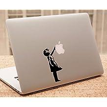 "Decal - Banksy MacBook Decal - Balloon Girl - Banksy Stencil Laptop Sticker (11"" MacBook)"