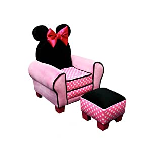 Amazon Com Disney Minnie Mouse Chair And Ottoman Toys Amp Games