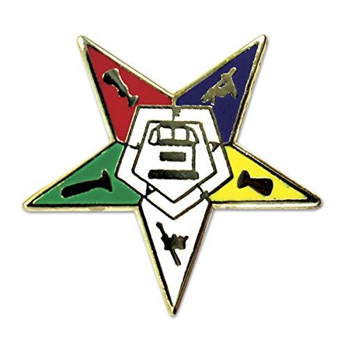 Order of The Eastern Star Masonic Lapel Pin - 3/4