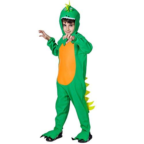 Halloween Kids Dinosaur Costume (S,M,L Green) (S)
