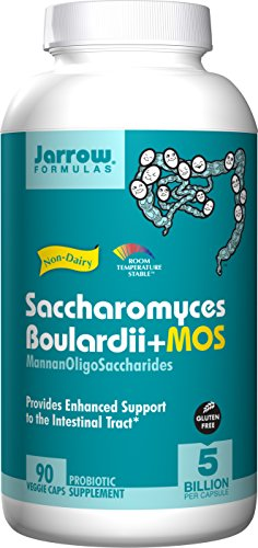 Saccharomyces Boulardii + MOS, 5 Billion Organisms Per Cap, For Intestinal and Digestive Support, 90 Count (Cool Ship, Pack of 3)