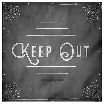 Danger Keep Out Modern Block Heavy-Duty Outdoor Vinyl Banner CGSignLab 12x8