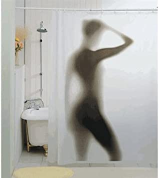 Scary Shower Curtain Gift House Import Anglais